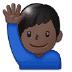 🙋🏿♂️ man raising hand: dark skin tone Emoji on Samsung Platform