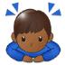 🙇🏾 person bowing: medium-dark skin tone Emoji on Samsung Platform