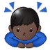 🙇🏿 person bowing: dark skin tone Emoji on Samsung Platform