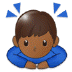 🙇🏾♂️ man bowing: medium-dark skin tone Emoji on Samsung Platform