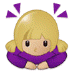 🙇🏼♀️ woman bowing: medium-light skin tone Emoji on Samsung Platform