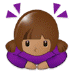 🙇🏽♀️ woman bowing: medium skin tone Emoji on Samsung Platform