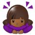 🙇🏾♀️ woman bowing: medium-dark skin tone Emoji on Samsung Platform