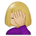 🤦🏼 person facepalming: medium-light skin tone Emoji on Samsung Platform