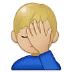 🤦🏼♂️ Medium Light Skin Tone Man Facepalming Emoji on Samsung Platform