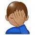 🤦🏽♂️ man facepalming: medium skin tone Emoji on Samsung Platform