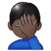 🤦🏿‍♂️ man facepalming: dark skin tone Emoji on Samsung Platform