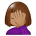 🤦🏽♀️ woman facepalming: medium skin tone Emoji on Samsung Platform