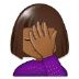 🤦🏾‍♀️ woman facepalming: medium-dark skin tone Emoji on Samsung Platform