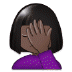 🤦🏿‍♀️ woman facepalming: dark skin tone Emoji on Samsung Platform