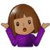 🤷🏽 person shrugging: medium skin tone Emoji on Samsung Platform