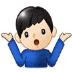 🤷🏻♂️ man shrugging: light skin tone Emoji on Samsung Platform