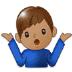 🤷🏽♂️ man shrugging: medium skin tone Emoji on Samsung Platform