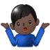 🤷🏿♂️ man shrugging: dark skin tone Emoji on Samsung Platform