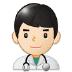 👨🏻⚕️ man health worker: light skin tone Emoji on Samsung Platform