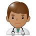 👨🏽⚕️ man health worker: medium skin tone Emoji on Samsung Platform