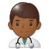 👨🏾⚕️ man health worker: medium-dark skin tone Emoji on Samsung Platform
