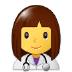 👩⚕️ woman health worker Emoji on Samsung Platform