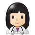 👩🏻‍⚕️ woman health worker: light skin tone Emoji on Samsung Platform