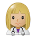 👩🏼‍⚕️ woman health worker: medium-light skin tone Emoji on Samsung Platform