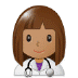 👩🏽‍⚕️ woman health worker: medium skin tone Emoji on Samsung Platform