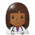 👩🏾‍⚕️ woman health worker: medium-dark skin tone Emoji on Samsung Platform