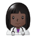 👩🏿‍⚕️ woman health worker: dark skin tone Emoji on Samsung Platform