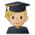 👨🏼🎓 man student: medium-light skin tone Emoji on Samsung Platform