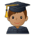 👨🏽‍🎓 Medium Skin Tone Male Student Emoji on Samsung Platform