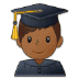 👨🏾‍🎓 man student: medium-dark skin tone Emoji on Samsung Platform