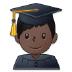 👨🏿🎓 man student: dark skin tone Emoji on Samsung Platform