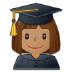 👩🏽🎓 woman student: medium skin tone Emoji on Samsung Platform