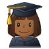 👩🏾🎓 woman student: medium-dark skin tone Emoji on Samsung Platform