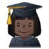 👩🏿🎓 woman student: dark skin tone Emoji on Samsung Platform