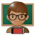 👨🏽🏫 man teacher: medium skin tone Emoji on Samsung Platform