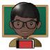 👨🏿🏫 man teacher: dark skin tone Emoji on Samsung Platform