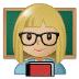 👩🏼🏫 woman teacher: medium-light skin tone Emoji on Samsung Platform