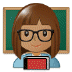 👩🏽‍🏫 woman teacher: medium skin tone Emoji on Samsung Platform