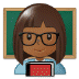 👩🏾🏫 woman teacher: medium-dark skin tone Emoji on Samsung Platform