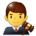 👨⚖️ man judge Emoji on Samsung Platform