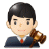 👨🏻⚖️ man judge: light skin tone Emoji on Samsung Platform