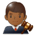 👨🏾⚖️ man judge: medium-dark skin tone Emoji on Samsung Platform
