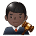 👨🏿‍⚖️ man judge: dark skin tone Emoji on Samsung Platform