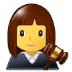 👩⚖️ woman judge Emoji on Samsung Platform
