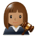 👩🏽‍⚖️ woman judge: medium skin tone Emoji on Samsung Platform