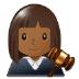 👩🏾⚖️ Medium Dark Skin Tone Female Judge Emoji on Samsung Platform