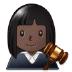 👩🏿⚖️ woman judge: dark skin tone Emoji on Samsung Platform