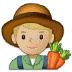 👨🏼🌾 man farmer: medium-light skin tone Emoji on Samsung Platform