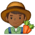 👨🏾‍🌾 man farmer: medium-dark skin tone Emoji on Samsung Platform