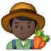 👨🏿‍🌾 man farmer: dark skin tone Emoji on Samsung Platform